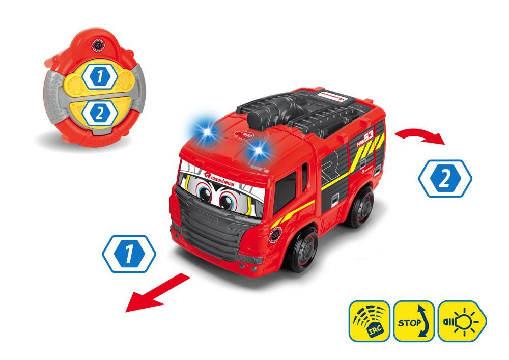 Dickie - Happy Camion de pompier téléguidé Sons et lumières 27 cm