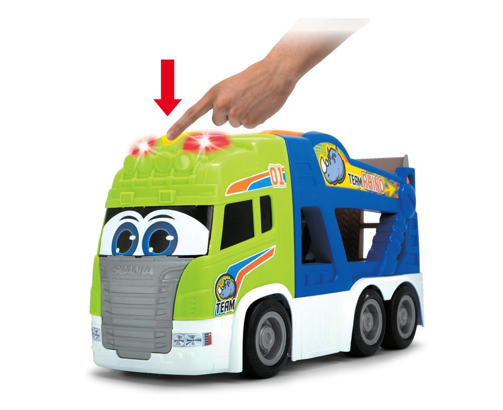 Dickie - Happy Transporteur d'autos Sons et lumières 42 cm