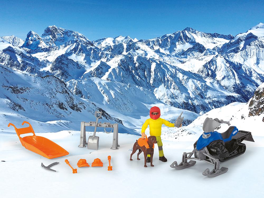 Dickie - Playlife Moto-neige et accessoires 15 cm
