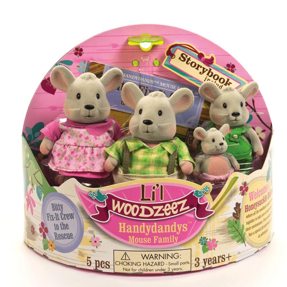 Li'l Woodzeez - Famille de souris Handydandy
