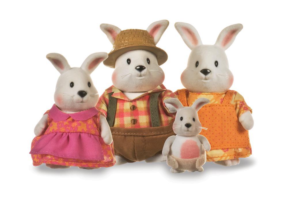 Li'l Woodzeez - Famille de lapins Hoppingood