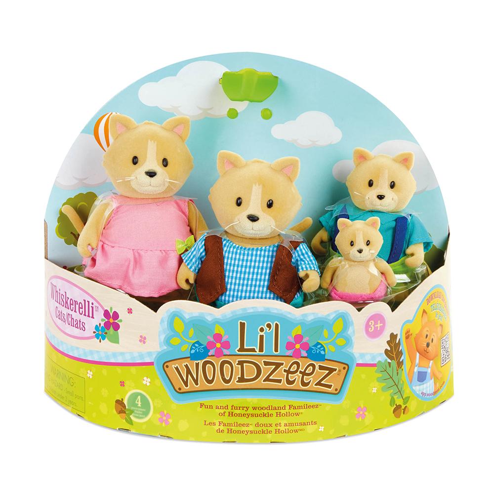 Li'l Woodzeez - Famille de chats Whiskerelli