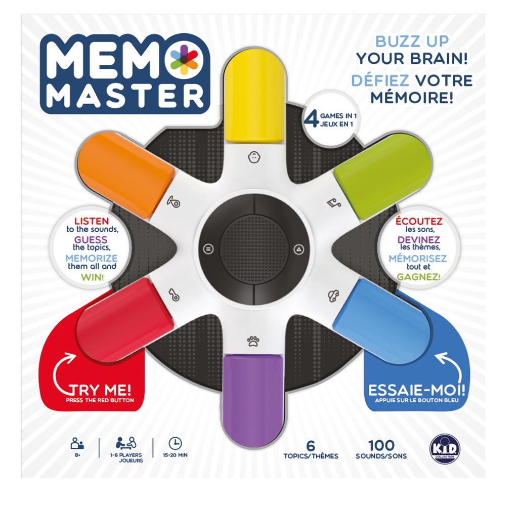 Memo Master le Jeu Version Bilingue