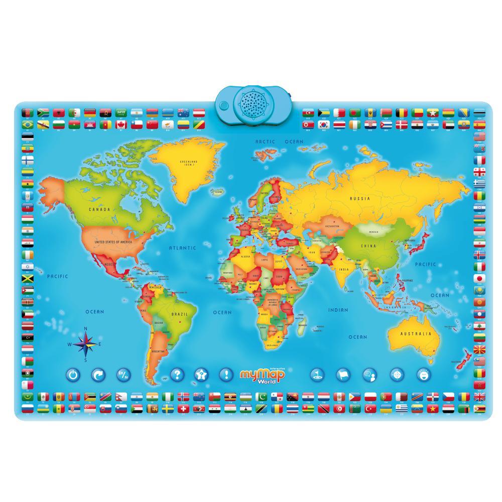 Mappemonde interactive MyMap Version bilingue