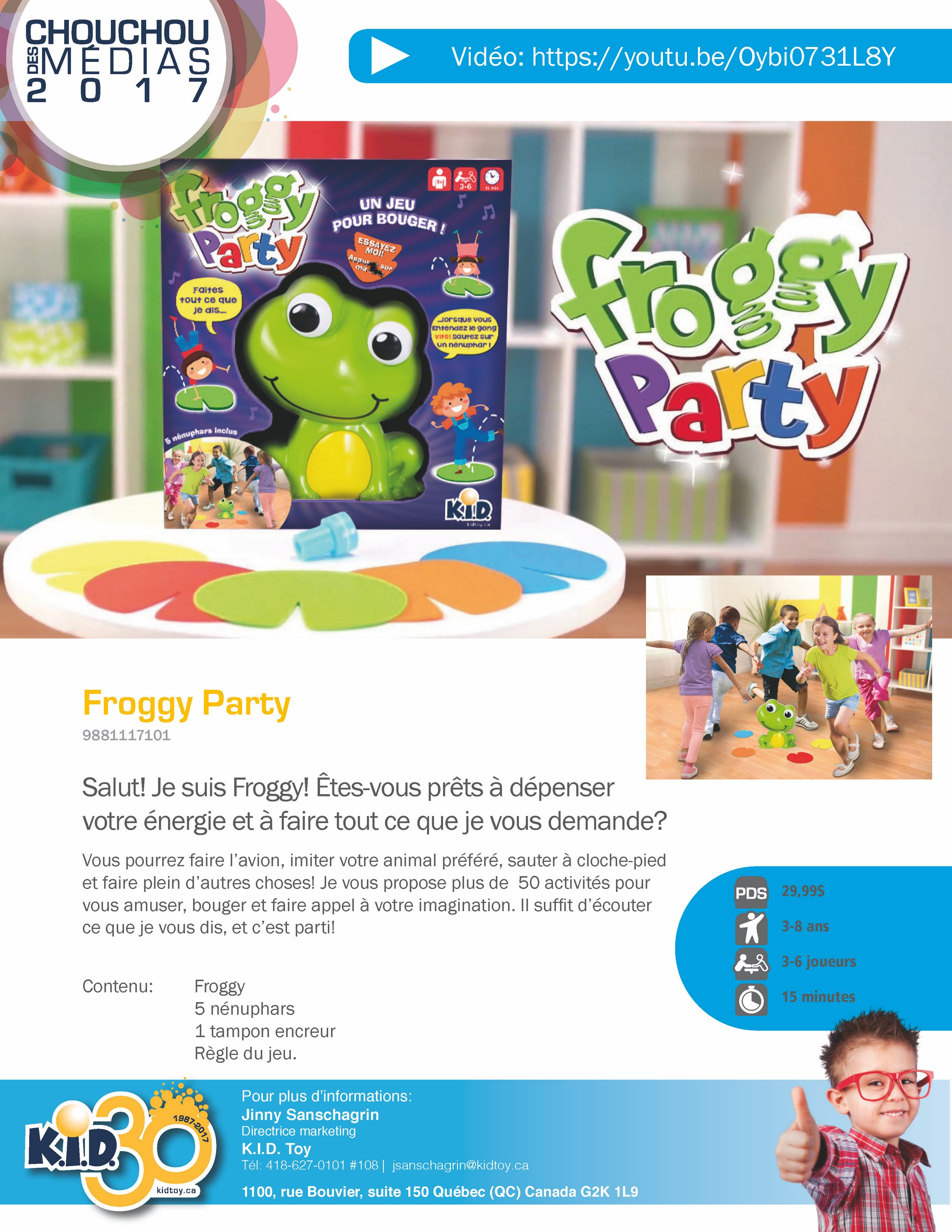 Jeu Froggy Party Version française