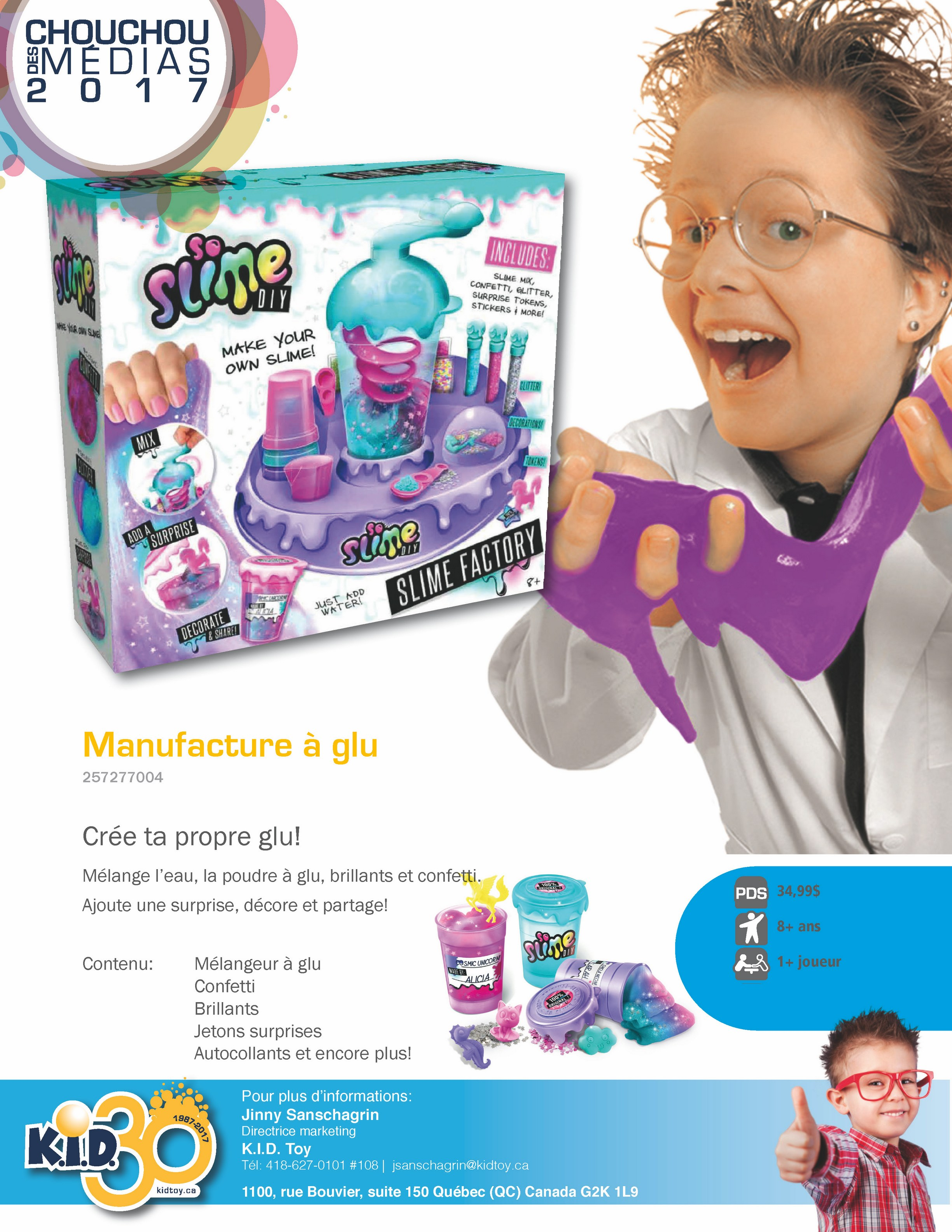 So Slime DIY - Manufacture mauve à glu